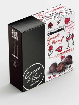 Chocolate Espumante e Morango